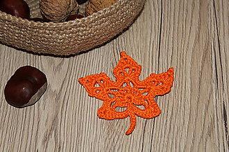 Dekorácie - Jesenný list (Oranžová) - 10072439_
