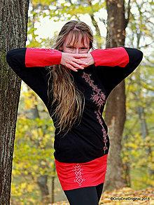 Mikiny - Dámska mikina s kapucou, vreckami, maľovaná, folk OD SRDCA K SRDCU - 10072098_
