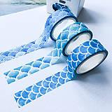 Papier - dekoračná papierová páska Morská sada (súprava) - 10071443_