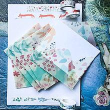Papier - polopriehľadná papierová obálka Lesné zvieratká - 10071647_