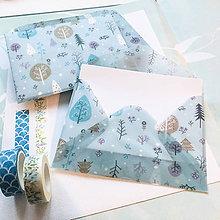 Papier - polopriehľadná papierová obálka Vianoce - 10071722_