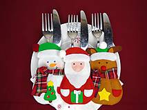 Vianočné vrecúška na príbor (Sada 6ks)