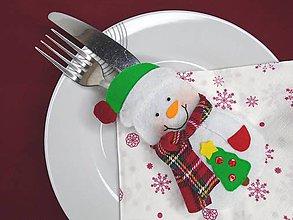 Úžitkový textil - Vianočné vrecúška na príbor - 10070710_