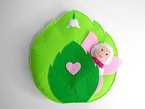 Hračky - Textilná knižka s motýľom (Molly) - 10070734_