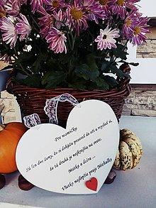 Tabuľky - Srdiečko mama a dcéra - 10073374_