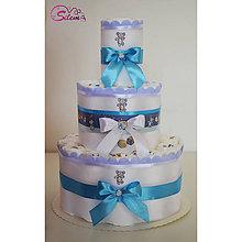 Detské doplnky - Plienková torta Marek 1 (Modrá) - 10074482_