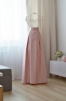 Sukne - MAXI skladaná sukňa  - 10073691_