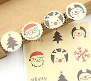 Nálepka vianočná - sada 12 ks