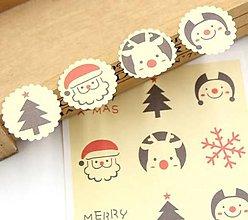 Papier - Nálepka vianočná - sada 12 ks - 10073163_