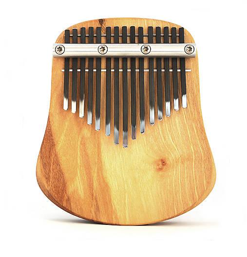 Hudobné nástroje - Tila - 15 tónová kalimba - diatonické ladenie (Jednoradová kalimba (pliešky v jednom rade)) - 10075422_