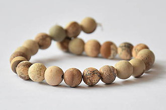 Minerály - NAT6840, Jaspis obrázkový-Matný /1ks - 10071341_