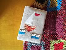 Papiernictvo - Natur wrapper - nastaviteľný obal na knihu Loď - 10073050_
