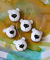 Dekorácie - Medvedie oriešky biele - 10071610_