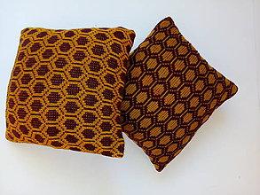 Úžitkový textil - pletené vankúše - 10073096_