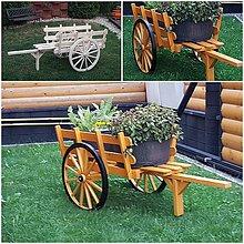 Dekorácie - Dreveny voz na kvety - 10070681_