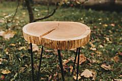 Nábytok - Kruhový konferenčný stolík s čiernymi hairpin nožičkami - 10071583_
