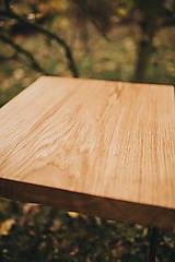 Nábytok - Štvorcový konferenčný stolík s čiernymi hairpin nožičkami - 10071676_