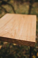 Nábytok - Štvorcový konferenčný stolík s čiernymi hairpin nožičkami - 10071677_