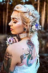 Prstene - Kvetinový prstienok fialový - 10070591_
