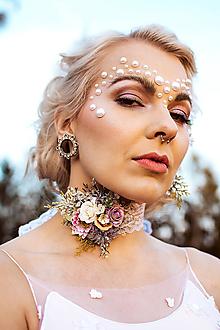 Náhrdelníky - Kvetinový choker náhrdelník - 10070582_