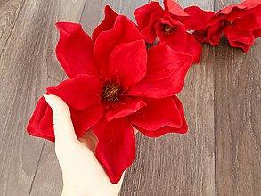 Dekorácie - Červené VIANOČNÉ kvety ❅❅❅ - 10072896_