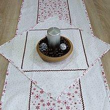 Úžitkový textil - Strieborno vínová elegancia na bielej - obrúsok štvorec 40x40 - 10071699_