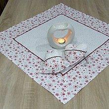 Úžitkový textil - Strieborno vínová elegancia na bielej(2) - obrus štvorec 60x60 - 10075461_