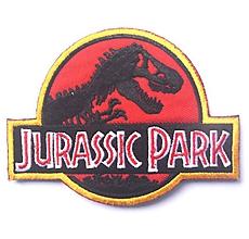 Galantéria - Nažehľovačka Jurassic Park červená - 10074084_