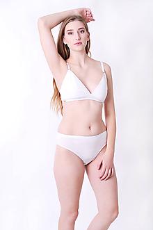 Bielizeň/Plavky - Podprsenka trojuholníková z bio bavlny (L - Béžová) - 10074058_