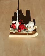 Svietidlá a sviečky - Vianočný svietnik - Sane - 10070613_