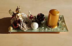 Svietidlá a sviečky - Vianočný svietnik 2 - 10070622_