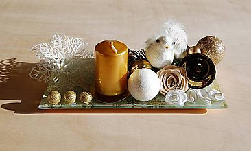 Svietidlá a sviečky - Vianočný svietnik 1 - 10070604_