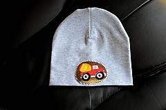 Detské čiapky - Pružná čiapka autíčko / 21 odtieňov - 10075451_