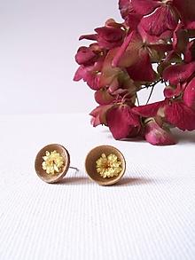 Náušnice - Náušnice: klobúčiky plné kvetov - 10070982_