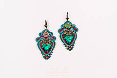 Náušnice - Soutache náušnice - Triangle beauty - 10071555_