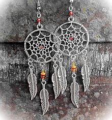 Náušnice - Dreamcatcher Earrings - 10072956_