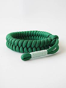 Náramky - Paracord náramok Fishtail (rybí chvost) - zelený - 10074691_