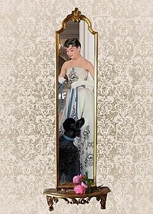 "Zrkadlá - Zrkadlo s konzolkou ""Mademoiselle Chic"" - 10078395_"