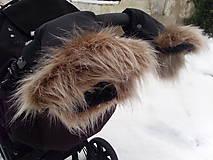 Textil - Oddelené rukávniky s kožušinkou - 10076188_