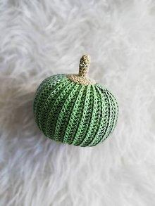 Dekorácie - Háčkované tekvičky  (Zelená) - 10080132_