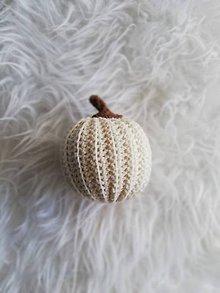 Dekorácie - Háčkované tekvičky  (Biela) - 10080137_