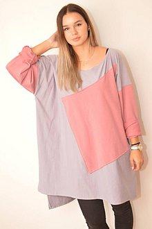 502ca427af Šaty - V KOCKE pohodlné oversized šaty alebo top z bavlneného úpletu. -  10078065