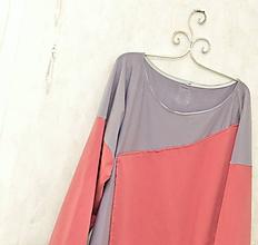 Šaty - VERA - pohodlné oversized šaty alebo top z bavlneného úpletu. - 10078070_