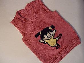 Detské oblečenie - vestička - cvičím - 10079102_