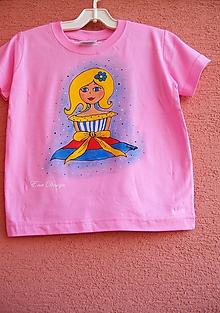 Detské oblečenie - tričko ručne maľované - Lambáda 1 - 10078272_