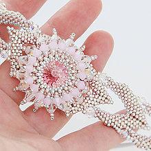 Náramky - šitý náramok JAR (ružová - Ag 925) - 10076691_