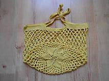 Nákupné tašky - Sieťovka žltá - 10078702_