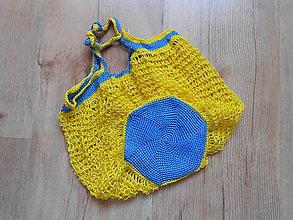 Nákupné tašky - Sieťovka modro žltá - 10078719_