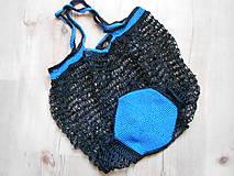 Nákupné tašky - Sieťovka modro čierna - 10078628_