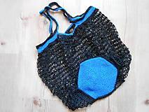 Nákupné tašky - Sieťovka modro čierna - 10078629_